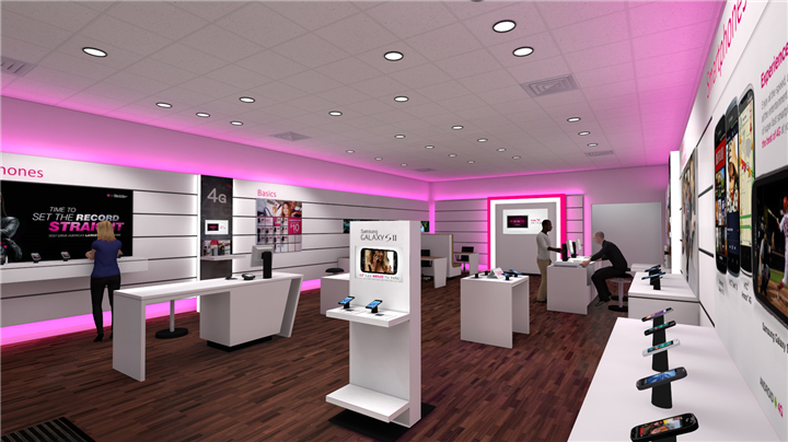 003 T-Mobile Cell Phone Store Design - Custom Mobile Cell