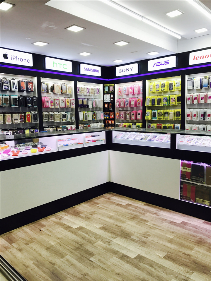 028 Small Cell Phone Accessories Store Interior Design Custom Mobile Cell Phone Shop Interior Design