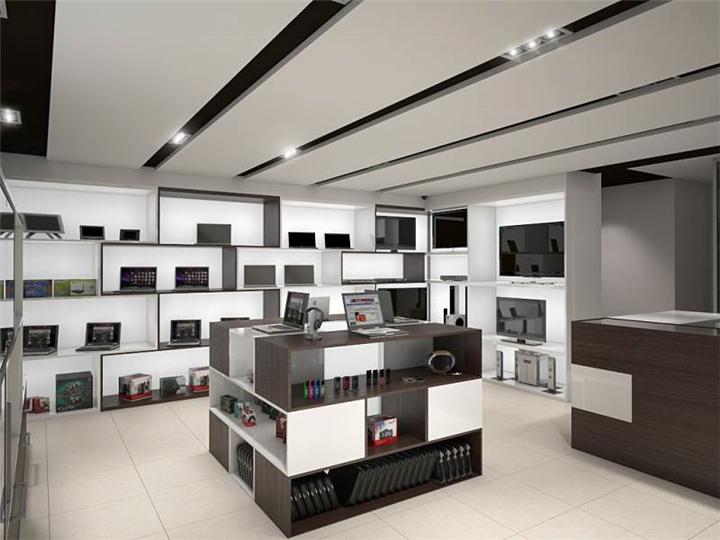 #049 Block Cubes Electronic Store Design - Custom Mobile Cell Phone Shop Interior Design