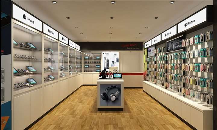 #001 Mobile Cell Phone Accessories Store Design