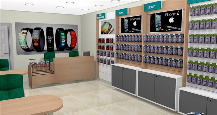 Electronic Store Design Custom Mobile Cell Phone Shop Interior Design