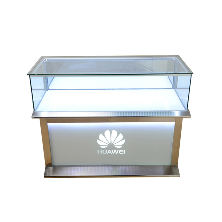 Huawei Mobile Phone Shop Counter With Light Custom