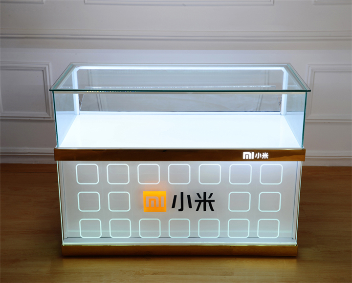 Xiaomi Mobile Phone Shop Counter With Light Custom Mobile Cell